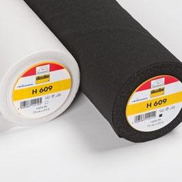 H609 - Leichte, weichte und bi-elastische, aufbügelbare Wirkeinlage mit extremer Elastizität in die Breite und Länge Breite: 75 cm