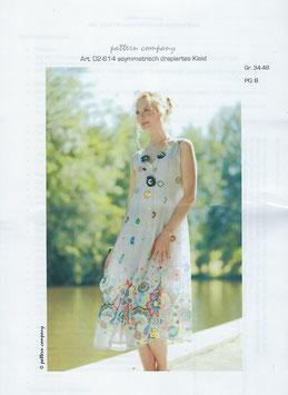 asymmetrisch drapiertes Kleid 02-614