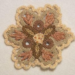 Chrochet Blume Reni - Druchmesser 9,5 cm