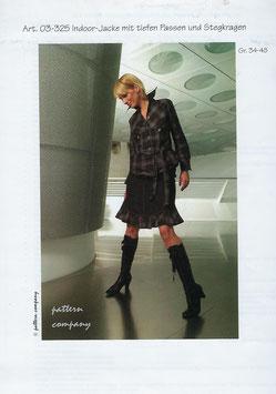 Indoor-Jacke mit tiefen passen und Stegkragen 03-325