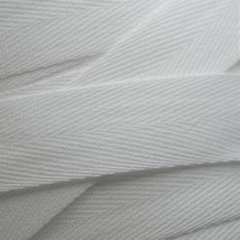 1,00 m Baumwoll-Köperband - weiss - 20 mm breit - waschbar