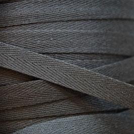1,00 m Baumwoll-Köperband - schwarz - 10 mm breit - waschbar