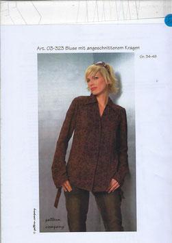 Bluse mit angeschnittenem Kragen 03-323