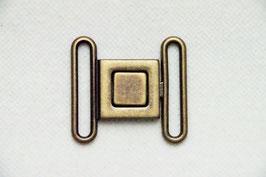 Schließe in altgold und anthrazit für 4 cm Gurt