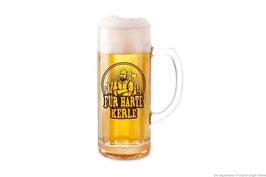 Bierkrug aus Glas mit div.Sprüchen