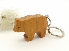 Schlüsselanhänger Bär aus Kirsche