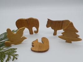 5 x Baumschmuck Anhänger für den Weihnachtsbaum