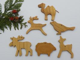 6 x Baumschmuck Anhänger für den Weihnachtsbaum