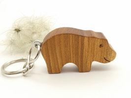 Schlüsselanhänger Nilpferd aus Ulme
