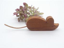 Maus Magnet aus Apfelholz