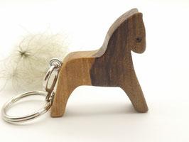 Schlüsselanhänger Pferd aus Walnuss