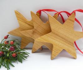 Holzstern aus Kirsche