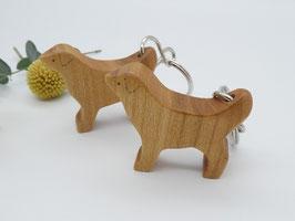 Hund Schlüsselanhänger aus Kirsche