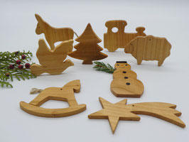 8 x Baumschmuck Anhänger für den Weihnachtsbaum