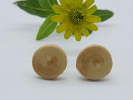Ohrstecker aus Buchsbaum, 9 mm