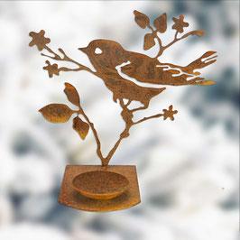 Uccellino sul ramo con porta candela Cod. Z7