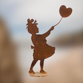 Bambina con palloncino a cuore Cod. A7