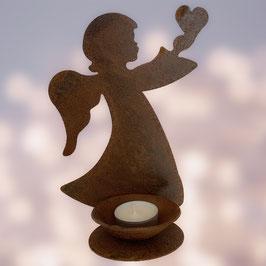 Angioletto con il cuore porta candela Cod. V12