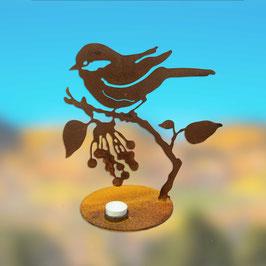 Uccellino sul ramo con porta candela Cod. Z8