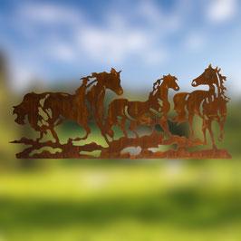 paesaggio con cavalli