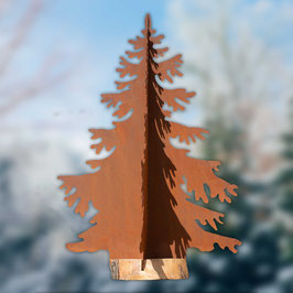 Abete con base in legno