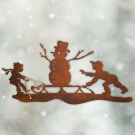 Scena con pupazzo di neve Cod. V8