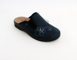Ciabatte Fly Flot colore blu con elastici - Sottopiede in pelle