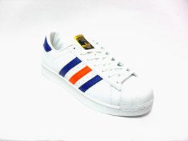 Scarpe Adidas Superstar 2 white/blue/orange