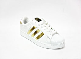 Scarpe Adidas Superstar white/gold