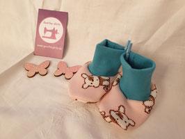 Babyschuhe Hunde rosa