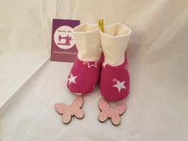Babyschuhe Sterne pink