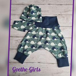Babyset Wal grün