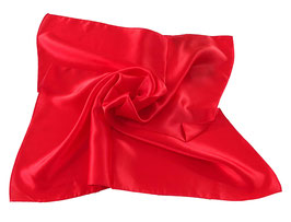 Nickituch aus edler Twill Seide in Rot