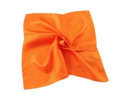 Nickituch aus edler Twill Seide in orange