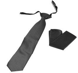 Sicherheitskrawatte / Security Krawatte & Einstecktuch KG 10 anthrazit