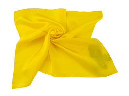 Nickituch aus edler Twill Seide gelb
