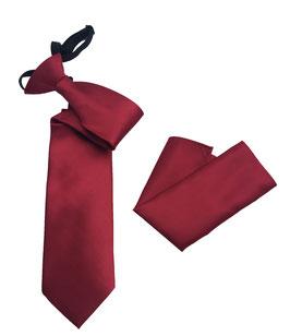 Sicherheitskrawatte / Security Krawatte & Einstecktuch KG 08 rot