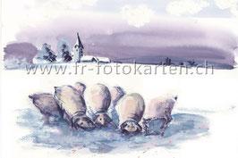 Wintertiere / Karten Nr.1091AC