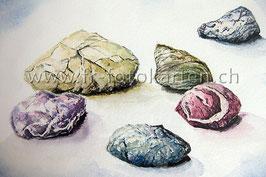 Steine farbig / Karten Nr.1127AC