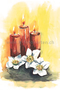 Rote Kerzen / Karten Nr.1089AC