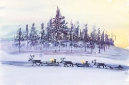 Winterschlitten / Karten Nr.1092AC