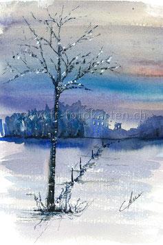 Baum im Winter / Karten Nr.1084AC