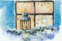 Laterne vor Fenster / Karten Nr.1086AC