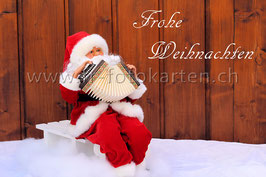 Weihnachtsmann auf Schlitten / Karten Nr.1070FR