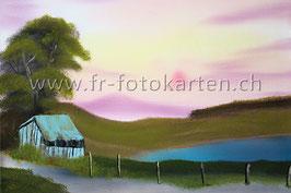 Landschaft Abenddämmerung / Karten Nr.1112BR