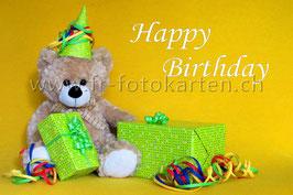 Geburtstags Teddy / Karten Nr.1025FR