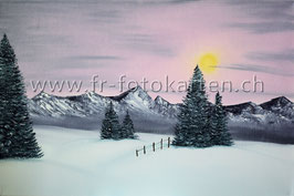 Berge Abenddämmerung / Karten Nr.1116BR