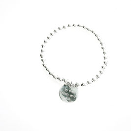 Silberperlen Armband ..to the moon and back..