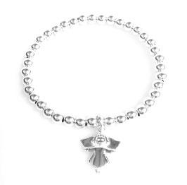 Silberperlen Armband Engel