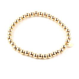 Silberperlen Armband gelbgold